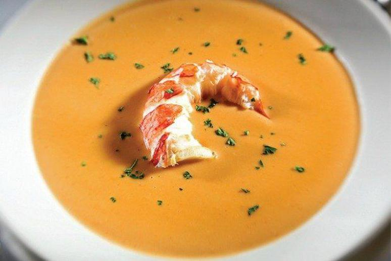 Maine Lobster Bisque with Toasted Pumpkin Seeds