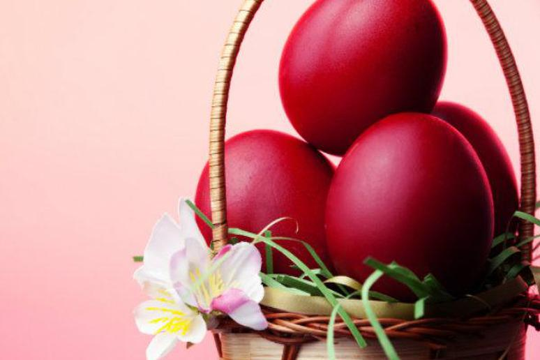 Beet Pink Boiled Easter Eggs