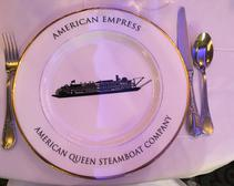 Dining in The Astoria Dining Room, one of two dining areas on the American Empress