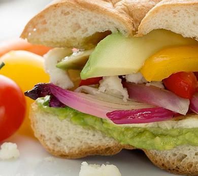 Avocado and Grilled Veggie Torta