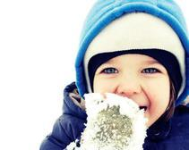 Kid Eating Snow