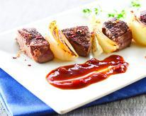 Coffee and Chili-Rubbed Steak Tip Skewers