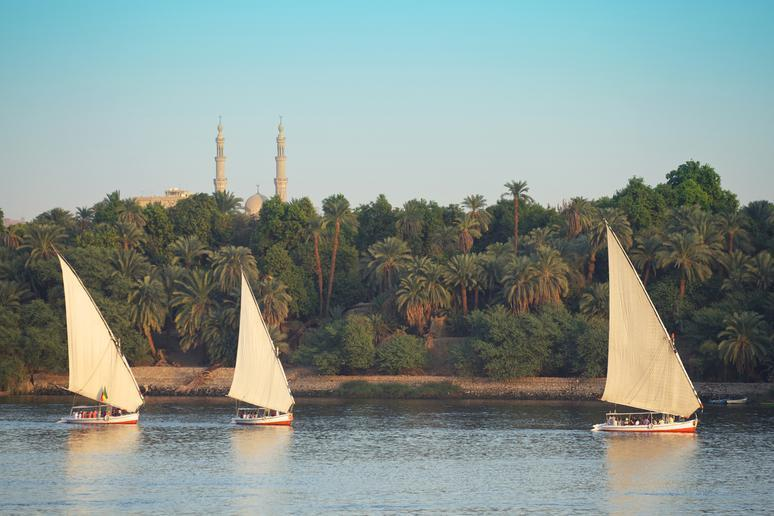 Cruising down the Nile in Egypt