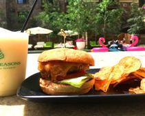 Poolside burger at Vail's Four Seasons