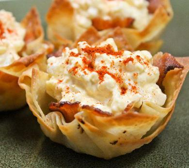 Egg Salad and Bacon Cups