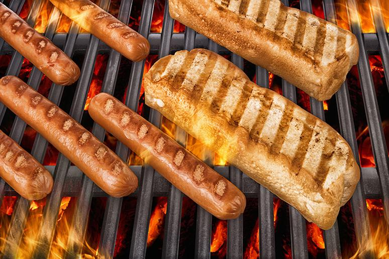 Hot dogs and precooked sausages