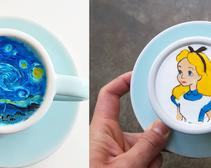 These aren't just your typical latte art creations.