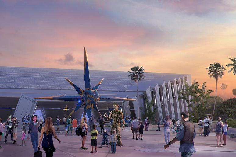 Guardians of the Galaxy Rollercoaster in Epcot's Future World