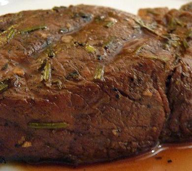 Steaks with Rosemary, Garlic, and Olive Oil