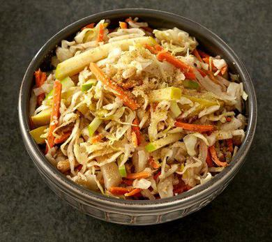 Warm Cabbage, Apple, and Wheat Germ Salad