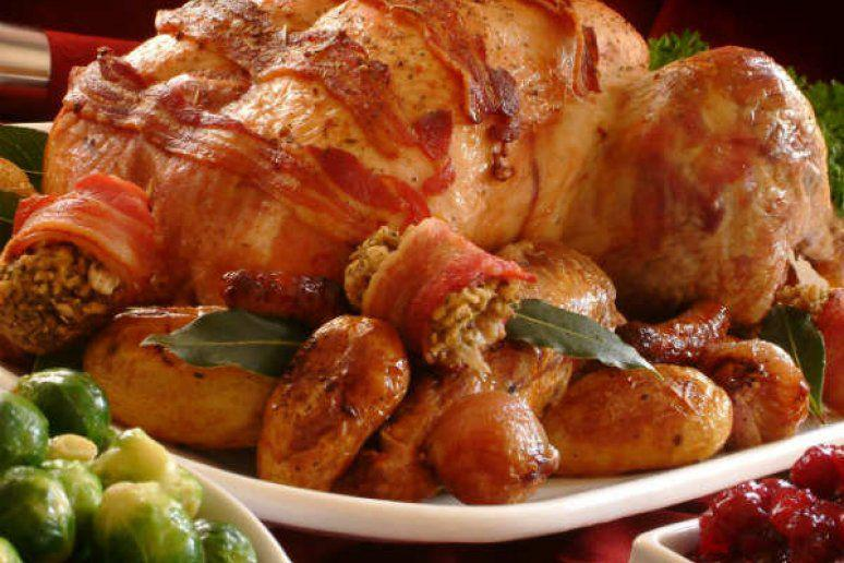 Bacon-Blanketed Herb Roasted Turkey