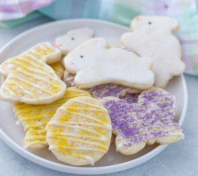 meyer lemon easter cookies