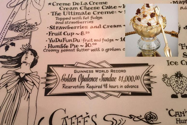 #2 Golden Opulence Sundae, Serendipity 3, New York and Las Vegas: $1,000