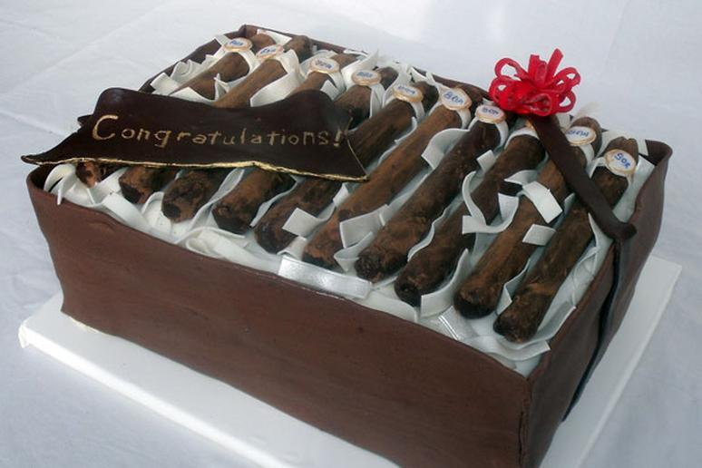 2 Cigar Box Cake from 10 Amazing Grooms Cakes Slideshow The Daily