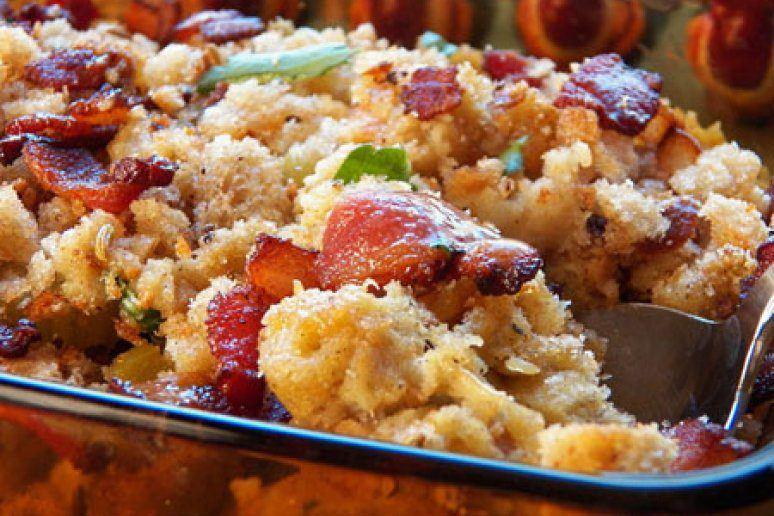 Rye Bread and Bacon Stuffing