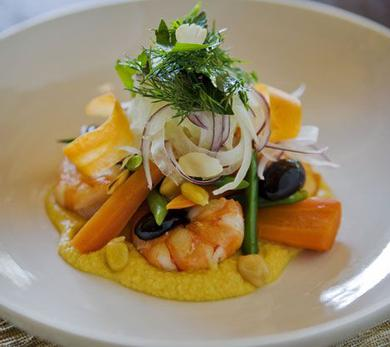 Prawn, Fennel and Baby Carrot Salad