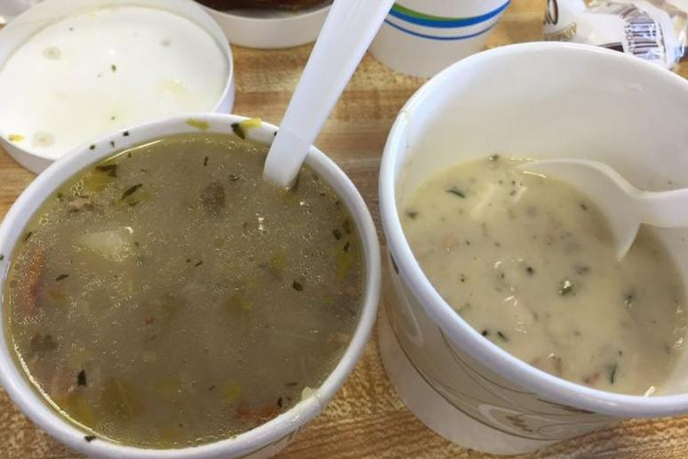 Best Soup: Clam Chowder at The Clam Castle, Madison