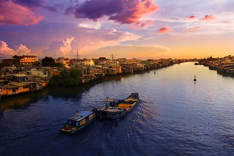 Go on cruise along the Mekong River