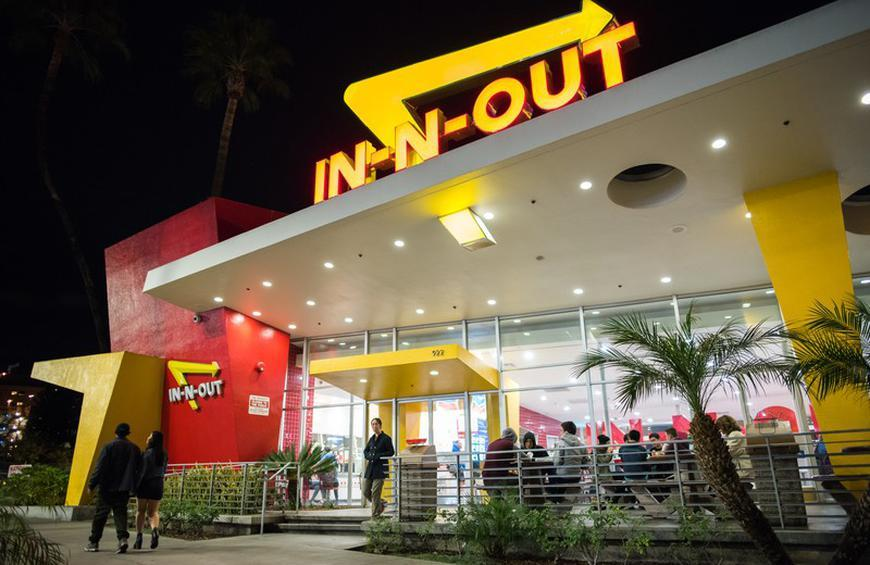 Large Chains 4 In N Out Burger From The Top Allergy