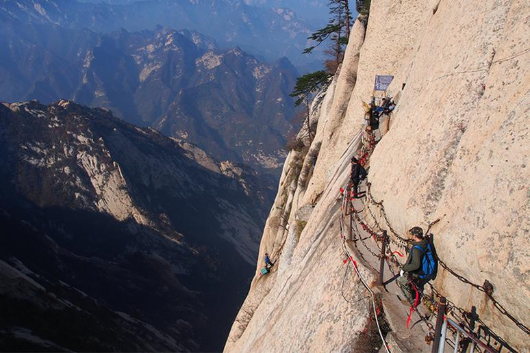 Hua Shan plank walk, China
