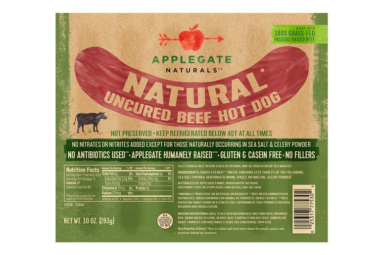 All Beef: Healthiest: Applegate Naturals Beef Hot Dog