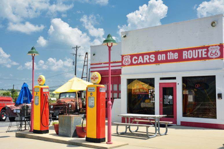 Cars on the Route (Galena, Kansas)