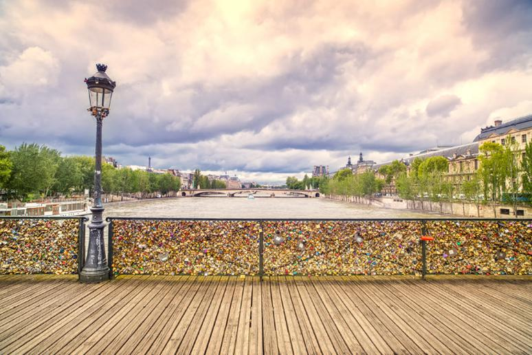 Pont Des Arts Bridge (Love Lock Bridge), Paris