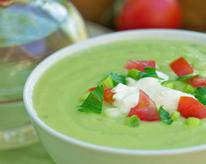 Chilled Avocado and Cucumber Soup