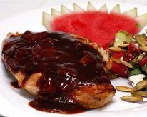 Grilled Chicken with Watermelon Barbecue Sauce