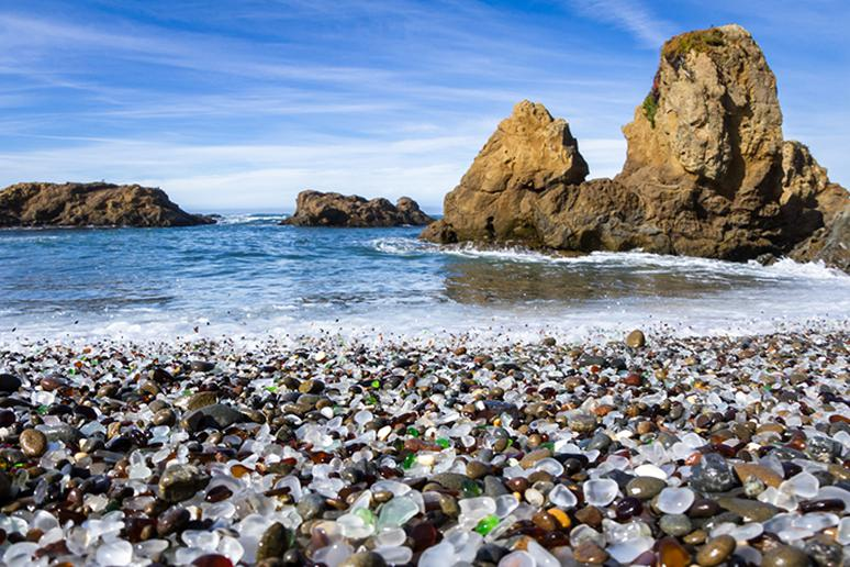 Glass Beach in Fort Bragg, California