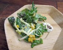 Salad of Zucchini, Corn, and Smoked Yogurt