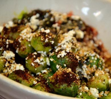 Baked Brussels Sprouts with Feta
