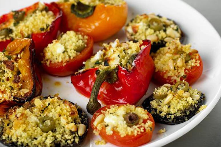 Stuffed Peppers, Tomatoes, and Mushrooms