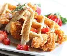 Rosemary Chicken and Waffles