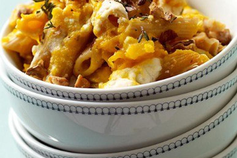 Baked Pasta with Butternut Squash and Ricotta