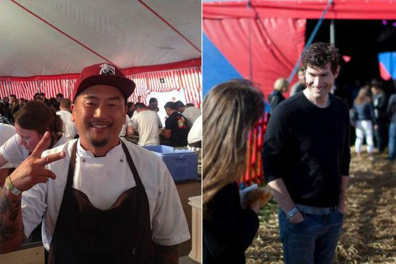 Roy Choi and Daniel Patterson Working on Fast Food Concept
