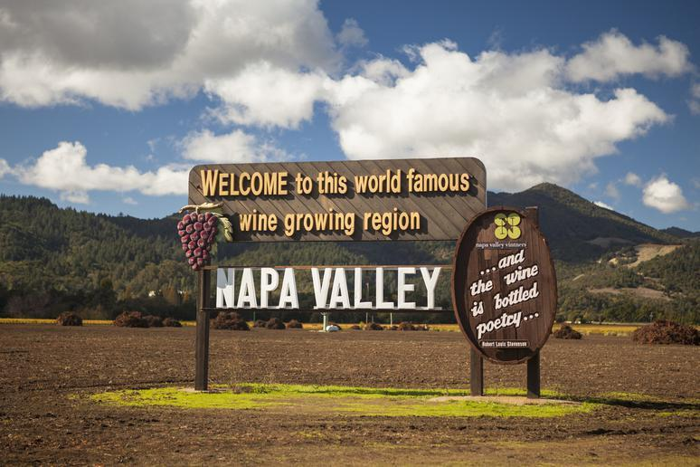 Tasting wine in Napa Valley