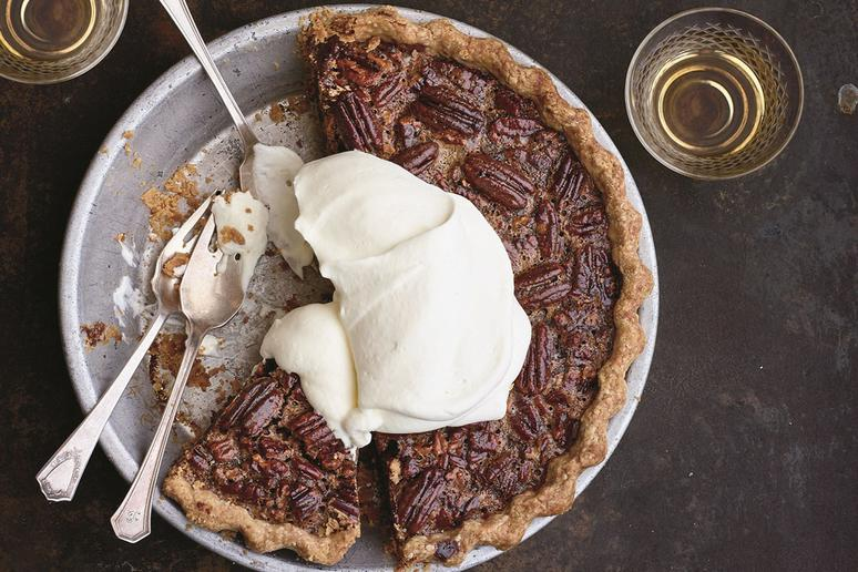 Brown Butter Pecan Pie With Espresso Dates