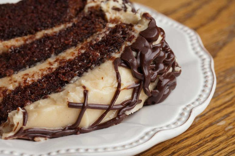 Caribbean Cake with Peanut Butter Frosting