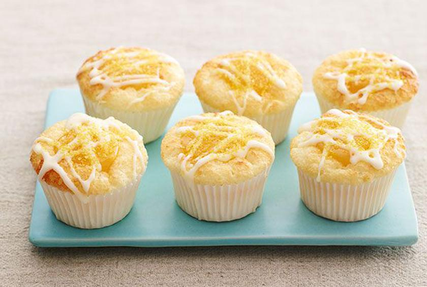 Lemon angel food cupcakes with lemon curd and mascarpone frosting lemon angel food cupcake forumfinder Images