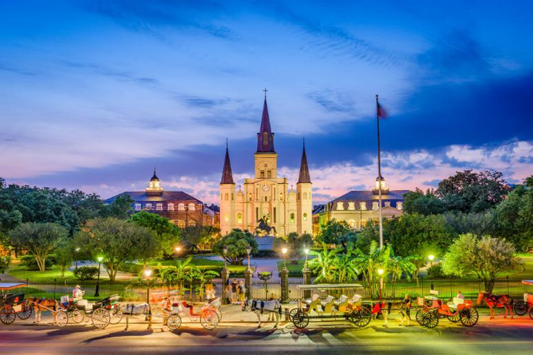 New Orleans, Louisiana – April, May, June