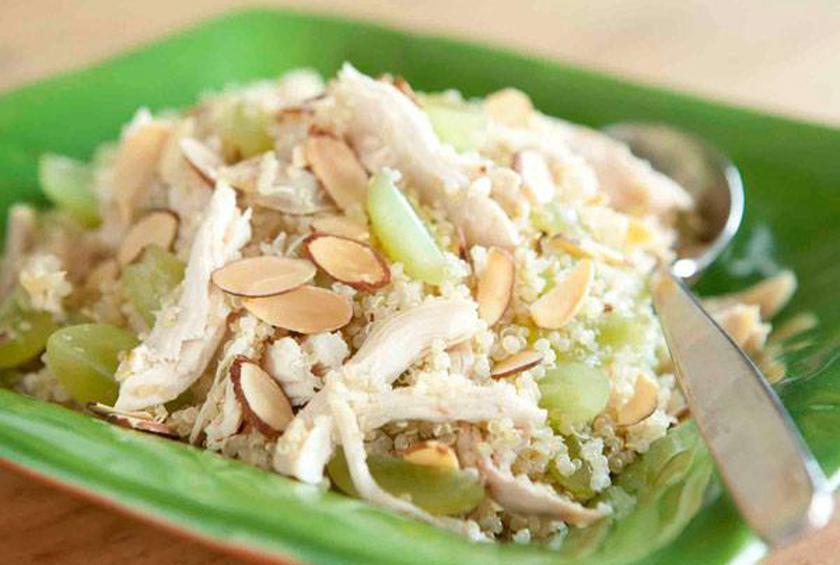 Quinoa Salad With Chicken Grapes And Almonds Recipe By Whole Foods