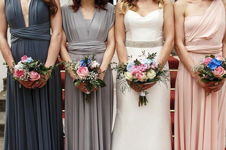 Mismatched wedding dresses