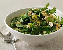 South African Curried Spinach with Peanuts