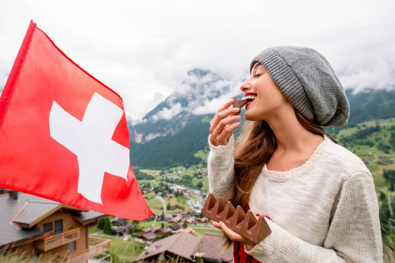 Indulging in chocolate in Switzerland