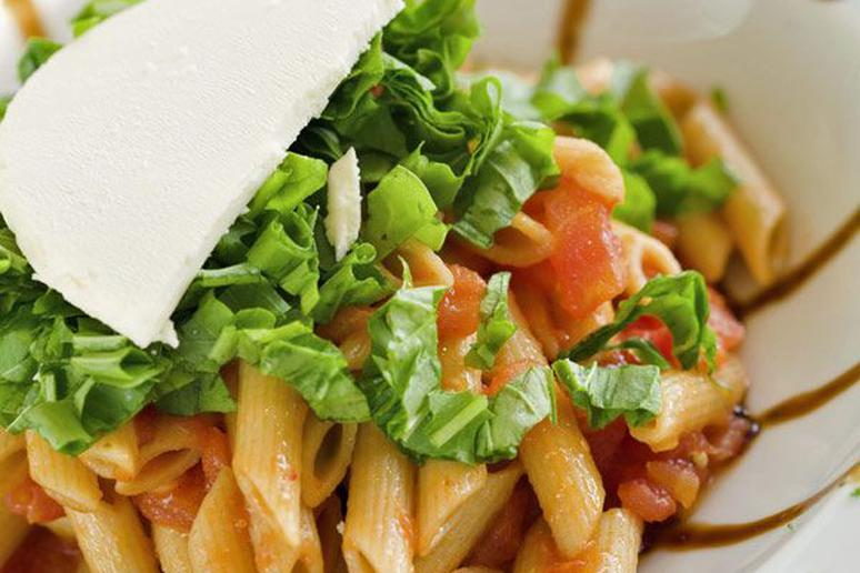 BLT Pasta with Blue Cheese-Buttermilk Dressing