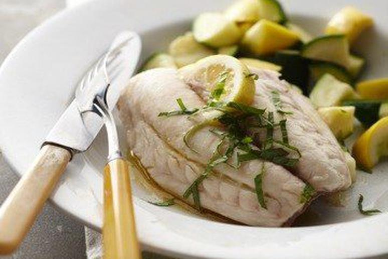 Minted Red Snapper with Summer Squash