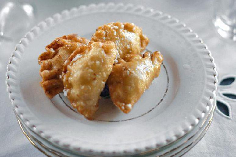 Yiouzlemedes (Cheese and Mastic Pastries)