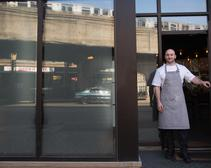 42 Grams restaurant, pictured with chef Jake Bickelhaupt out front in April 2014, has closed