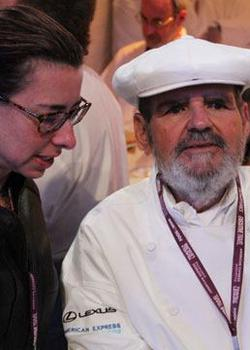 Chef Paul Prudhomme at the Los Angeles Food & Wine Festival.